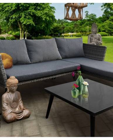 Záhradná rohová pohovka so stolíkom Phuket%