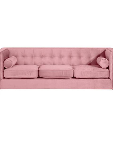 Max Winzer Ružová pohovka Max Winzer Jeronimo, 215 cm