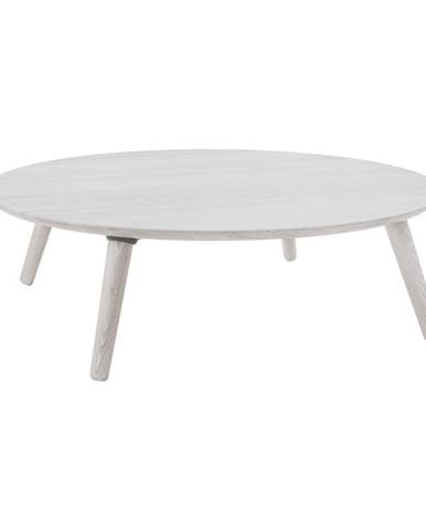 Biely konferenčný stolík z jaseňového dreva Ragaba Contrast Slice
