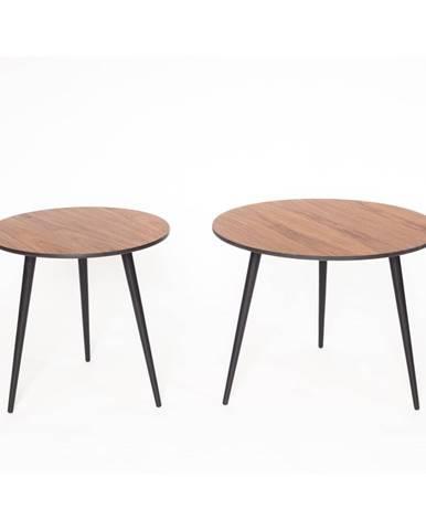 Súprava 2 konferenčný stolík s čiernymi nohami Ragaba Pawi Pick