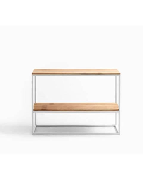 Custom Form Biely konzolový stolík z dubového dreva Custom Form Julita