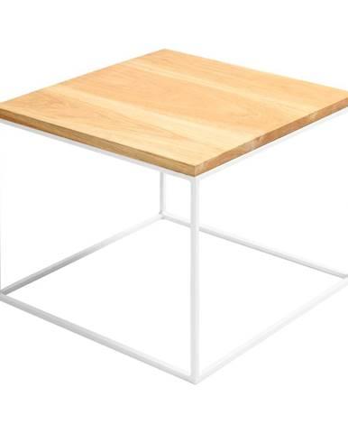 Odkladací stolík s bielou konštrukciou Custom Form Tensio, 50 x 50 cm