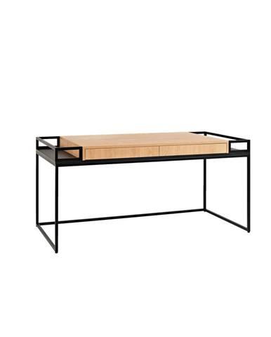 Pracovný stôl s čiernou konštrukciou Custom Form