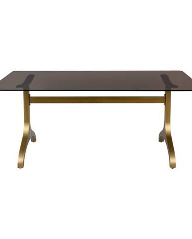 Jedálenský stôl so sklenenou doskou Dutchbone Sansa, 180 x 90 cm