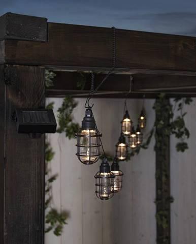 Vonkajšia svetelná LED reťaz Best Season Cage, 8 svetielok