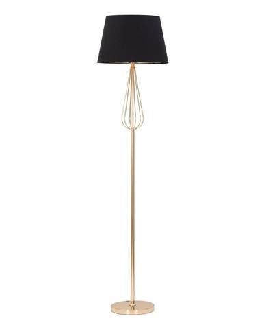 Čierna stojacia lampa Mauro Ferretti Ovy
