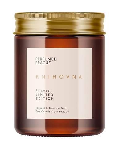 Sviečka zo sójového vosku s vôňou dreva Perfumed Prague, doba horenia 40 h