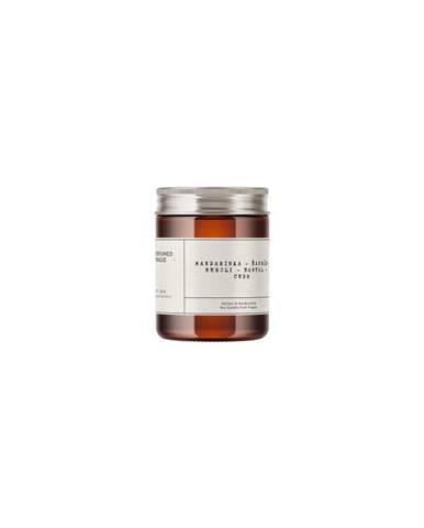Sviečka zo sójového vosku s vôňou mandarínky a šafránu Perfumed Prague, doba horenia 40 h