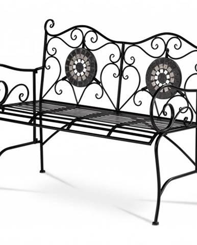 Záhradná lavica US1005 čierna, keramika