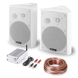 Skytec Bluetooth Play WH, PA HiFi set, dva reproduktory, mini zosilňovač s bluetooth, kábel
