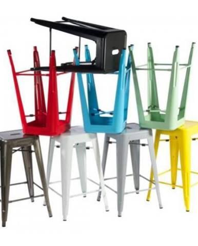 ArtD Barová stolička Paris 66cm inšpirovaná Tolix biela