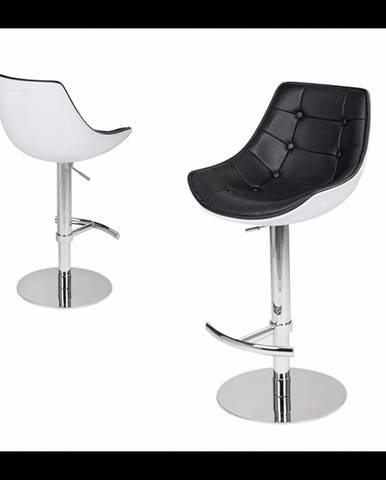 ArtKing Barová stolička Passion Eko biela-čierna