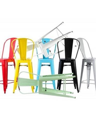 ArtD Barová stolička Paris Back inšpirovaná Tolix modrá
