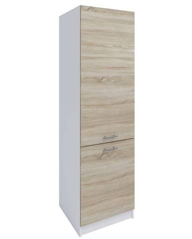 Potravinová skrinka dub sonoma/biela levá FABIANA S - 60/210