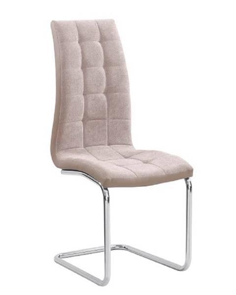 Kondela Jedálenská stolička béžová/chróm SALOMA NEW