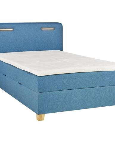Moderano POSTEĽ BOX, 100/200 cm, textil, kompozitné drevo, tyrkysová - tyrkysová
