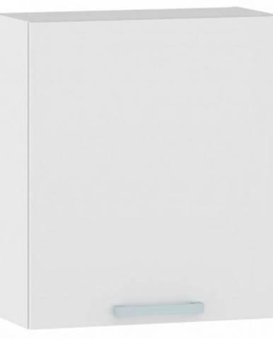 Horná kuchynská skrinka One EH60, ľavá, biely lesk, šírka 60 cm%