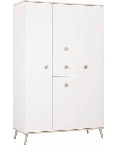 Modern Living ŠATNÁ SKRIŇA, biela, farby dubu, 125/202/55 cm - biela, farby dubu
