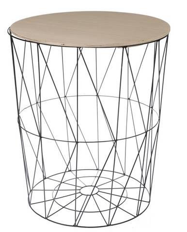 Odkladací stolík Lucan čierna, 57 cm