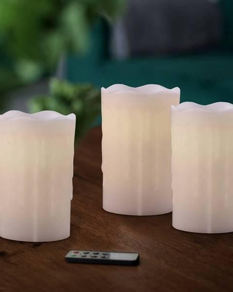 Trefl Sada voskových LED sviečok s diaľkovým ovládačom, 8 x 12,5 cm, 3 ks