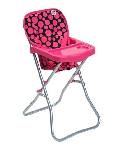 Jedálenská stolička pre bábiky PlayTo Dorotka ružová