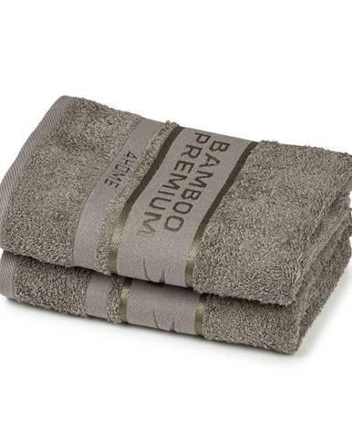 4Home Uterák Bamboo Premium sivá, 30 x 50 cm, sada 2 ks