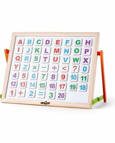 Woody Magnetická tabuľka s ABC na stôl