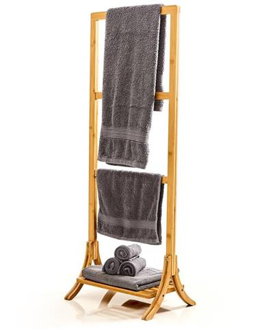 Blumfeldt Vešiak uteráky, 3 tyčky uteráky, 40 x 104,5 x 27 cm, rebríkový dizajn, bambus