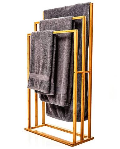 Blumfeldt Vešiak uteráky, 3 tyčky uteráky, 55 x 100 x 24 cm, schodíkový dizajn, bambus
