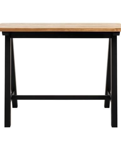 Barový stolík z dreva bieleho duba Unique Furniture Oliveto, 71x140cm