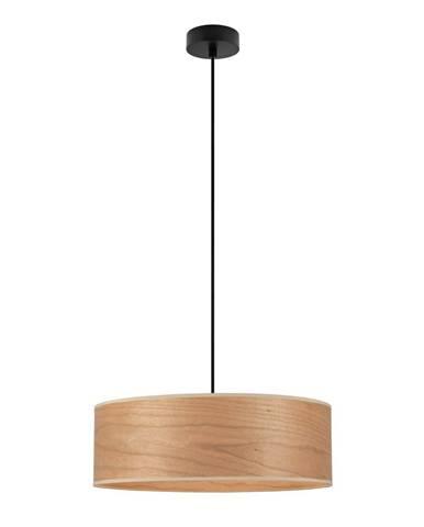 Závesné svietidlo s tienidlom z dreva čerešne Sotto Luce TSURI XL