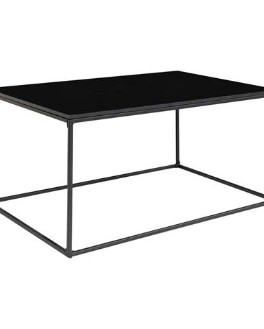 Čierny konferenčný stolík HoNordic Vita, 90 x 60 cm
