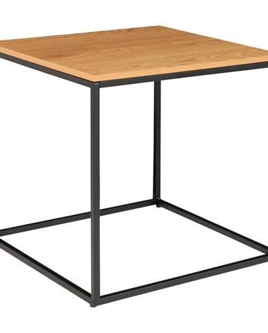 Odkladací stolík s doskou v dubovom dekore HoNordic Vita, 45 x 45 cm