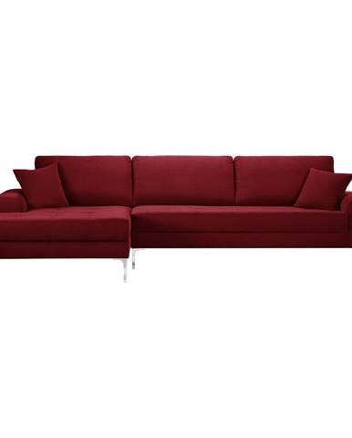 Červená rohová pohovka Prêt à Meubler Classics Dilinger, ľavý roh