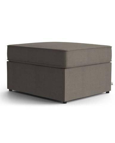 Hnedá polstrovaná rozkladacia lavica My Pop Design Brady, 80 cm