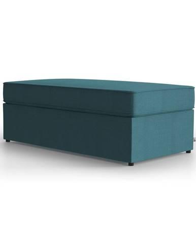 Tyrkysovomodrá polstrovaná rozkladacia lavica My Pop Design Brady, 130 cm