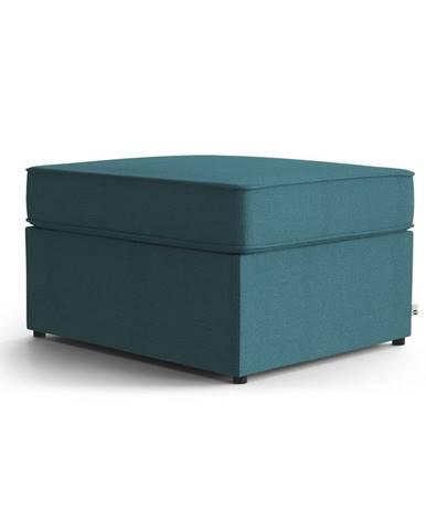 Tyrkysovomodrá polstrovaná rozkladacia lavica My Pop Design Brady, 80 cm