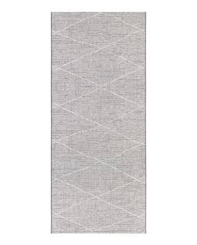 Antracitovobéžový behúň Elle Decor Curious Blois, 77×200 cm