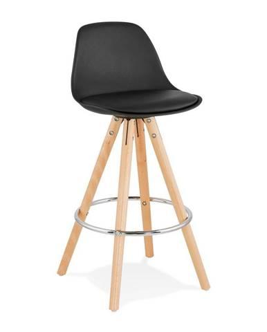 Čierna barová stolička Kokoon Anau, výška 64 cm