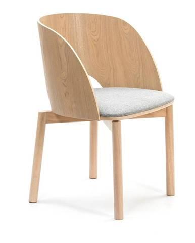 Prírodná stolička so sivým sedákom Teulat Dam