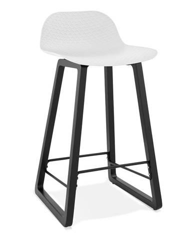Biela barová stolička Kokoon Miky, výška sedu 69 cm