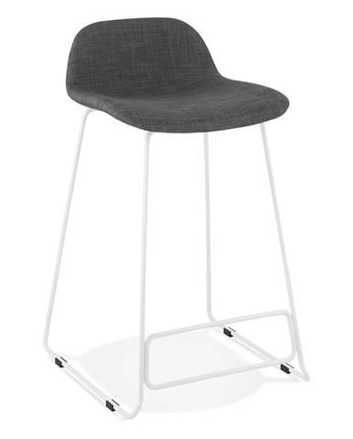 Čierna barová stolička s bielymi nohami Kokoon Vancouver mini, výška sedu 66 cm