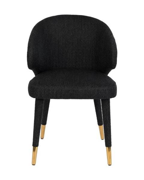 Dutchbone Čierna jedálenská stolička Dutchbone Lunar