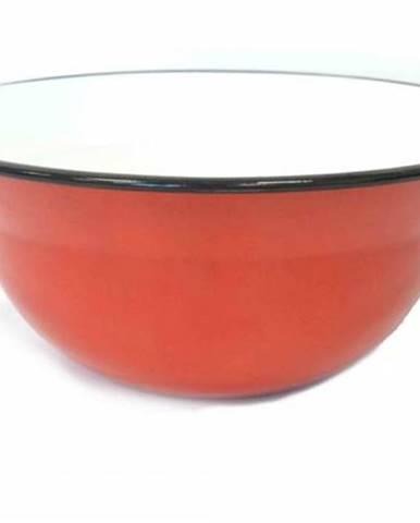 Vandlík/krájač 30 cm smalt 5 l červený vo vnútri biely