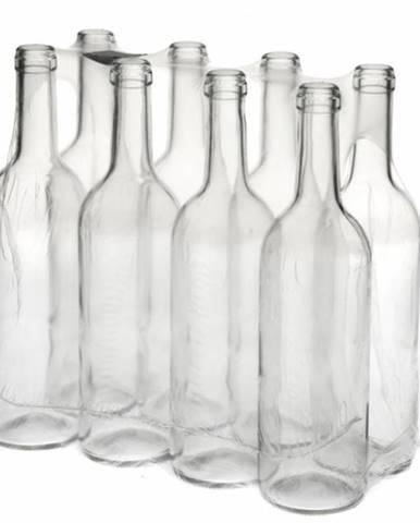 Sklenená fľaša na víno 750 ml, číra
