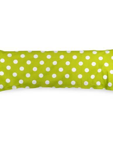 4Home Obliečka na Relaxačný vankúš Náhradný manžel Zelená bodka, 55 x 180 cm