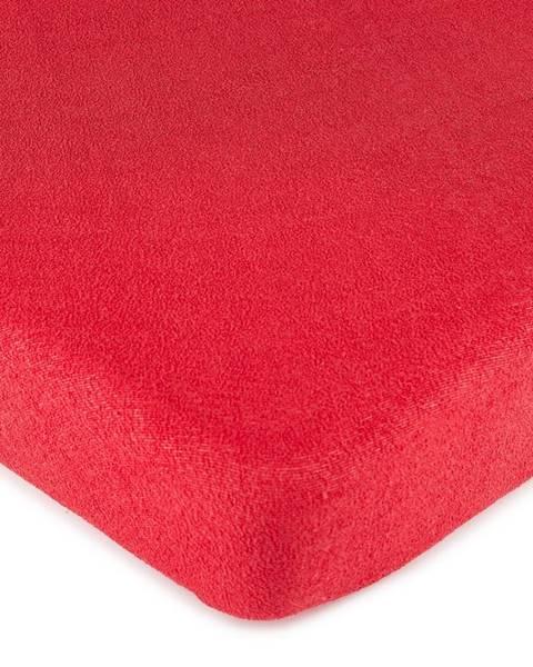 4Home 4Home froté prestieradlo červená, 180 x 200 cm