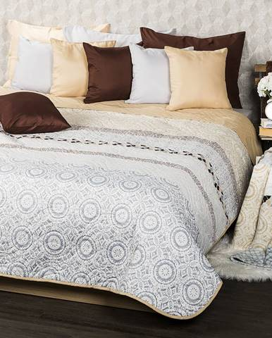 4Home Prehoz na posteľ Circles béžová, 220 x 240 cm