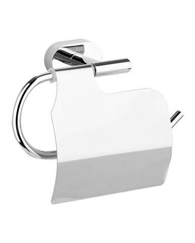 Fala Držiak toaletného papiera s krytom Oval Chrom, 17 x 9,5 x 7 cm
