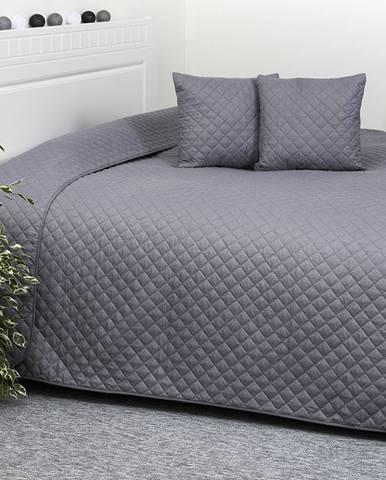 4Home Prehoz na posteľ Orient sivá, 220 x 240 cm, 40 x 40 cm